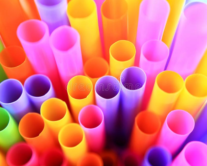 Colorful of drinking straws, top view, closeup, macro,. Abstract texture background royalty free stock photography