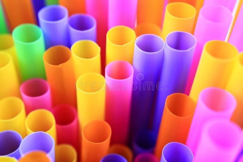 Colorful of drinking straws, top view, closeup, macro,. Abstract texture background royalty free stock images
