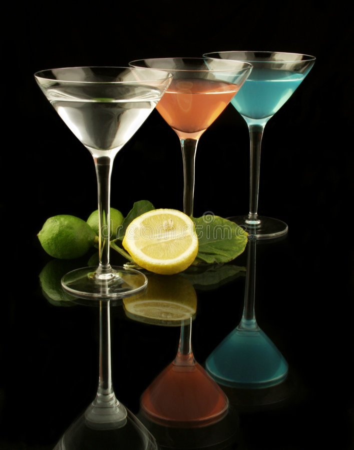 Colorful drinks and fruit royalty free stock image