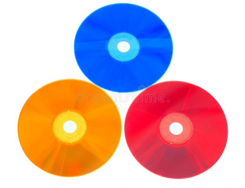 Colorful DVDs stock photography