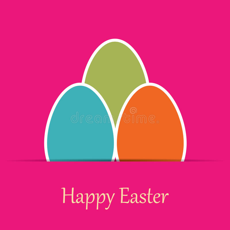 Colorful easter card with tree eggs royalty free illustration