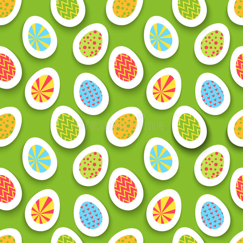 Download Colorful Easter Egg Seamless Background. Vector Stock Vector - Image: 37211340
