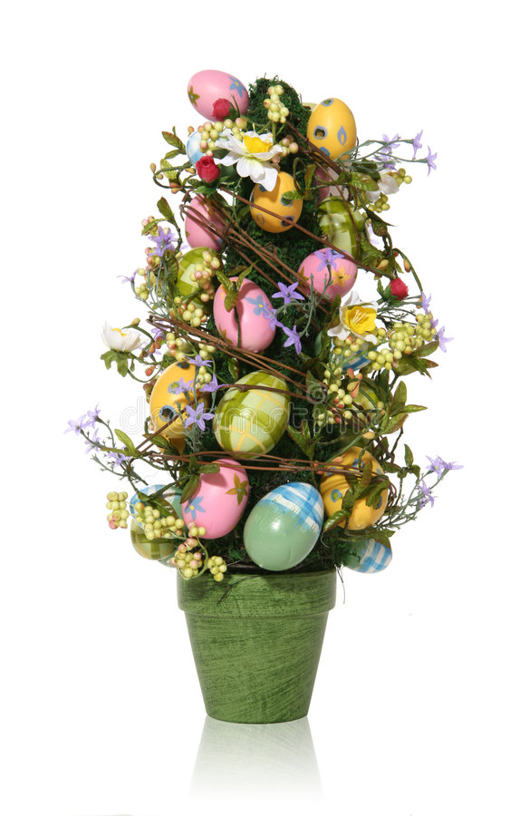 Free Colorful Easter Egg Tree Stock Image - 1764691