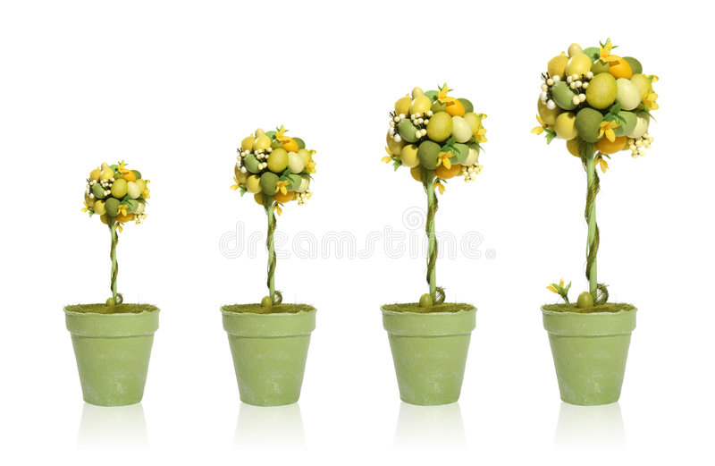 Colorful Easter Egg Tree royalty free stock image