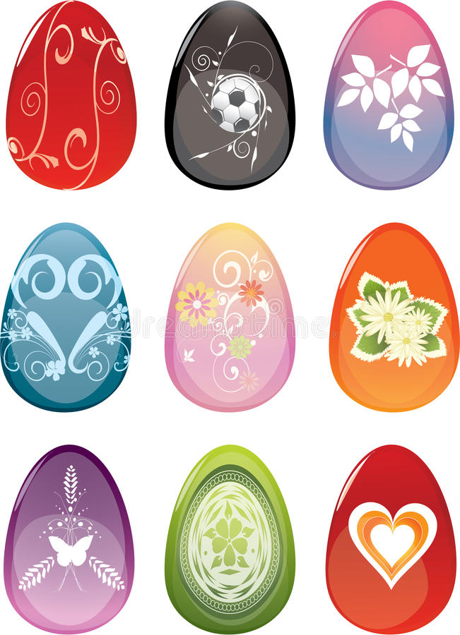 Download Colorful Easter eggs stock vector. Image of foliage, object - 21789610