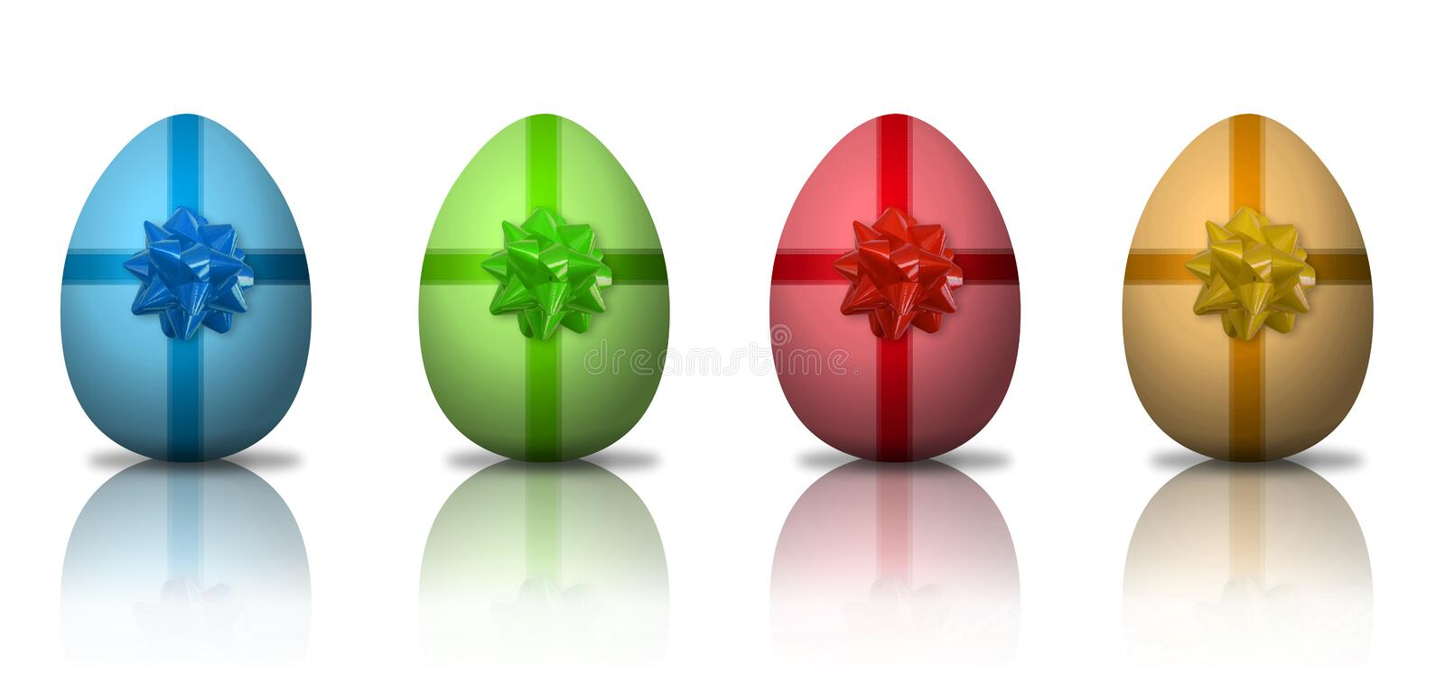 Download Colorful Easter eggs stock illustration. Image of traditional - 9102452