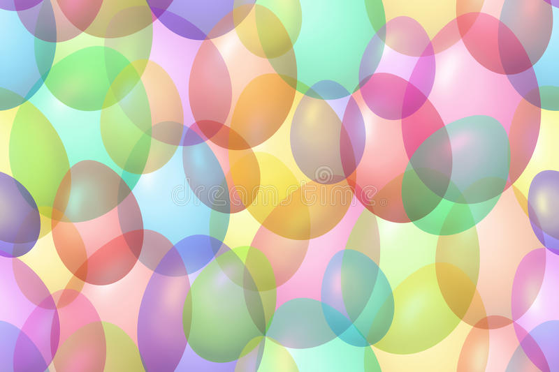 Colorful Easter eggs bokeh background royalty free illustration