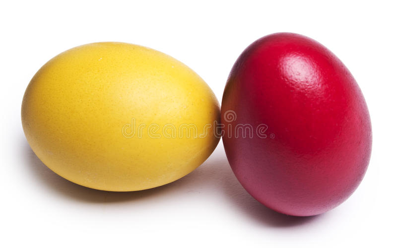 Colorful Easter Eggs. Isolated on a white background royalty free stock image
