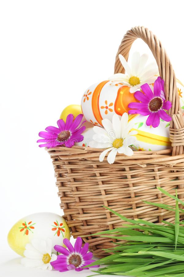 Download Colorful Easter Eggs With Spring Flowers Stock Image - Image: 18665523