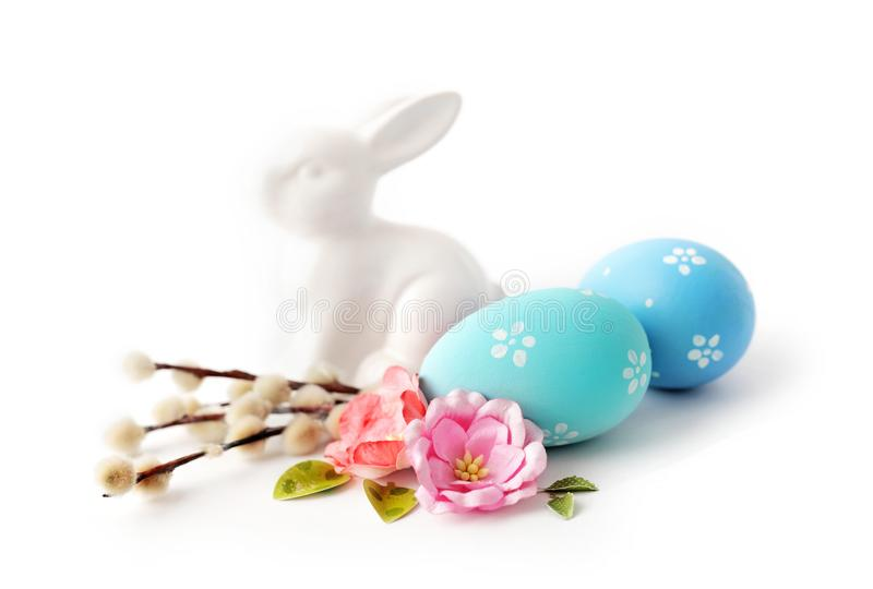 Easter eggs isolated royalty free stock photography