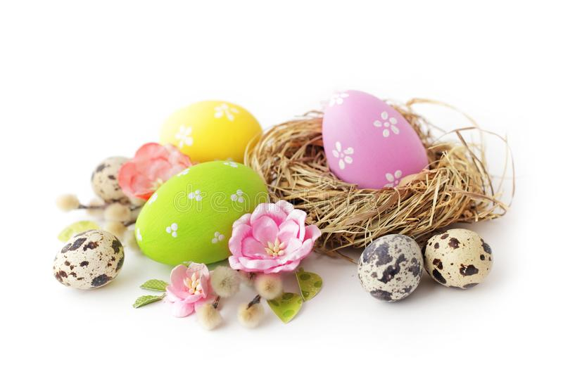 Easter eggs isolated royalty free stock images