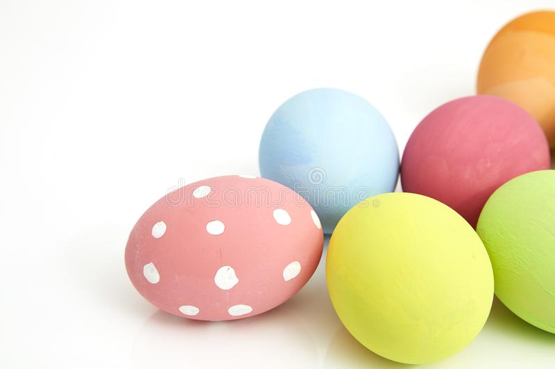 easter eggs on white royalty free stock image