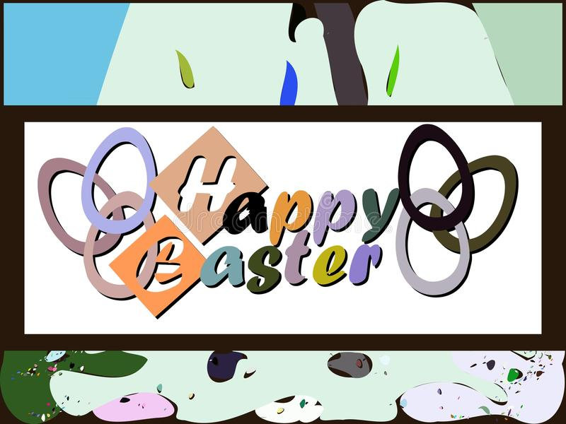 Download Colorful Easter Greeting Card Stock Illustration - Image: 43116412
