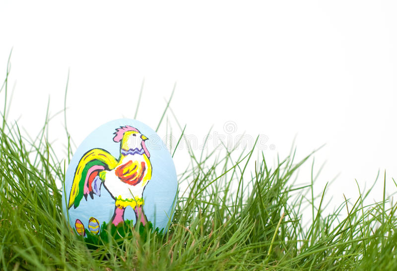 Download Colorful Easter Rooster Hand Painted On An Egg She Stock Photo - Image: 23115410