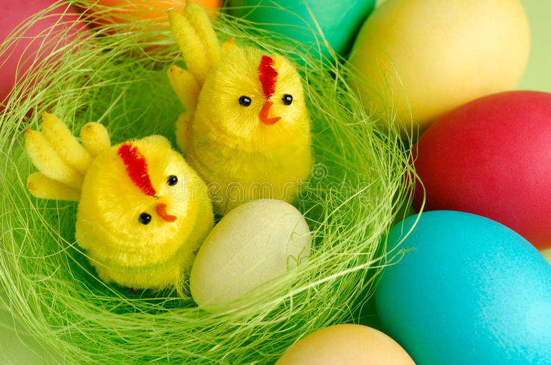 Colorful Easter Still Life stock photography