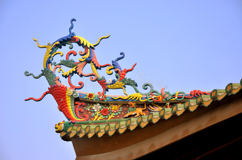 Colorful Eave In Chinese Traditional Temple Royalty Free Stock Photography