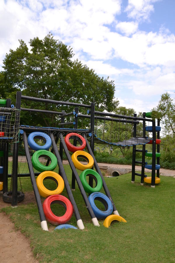 Colorful Eco Playground Stock Image Image Of Tyres Tyre