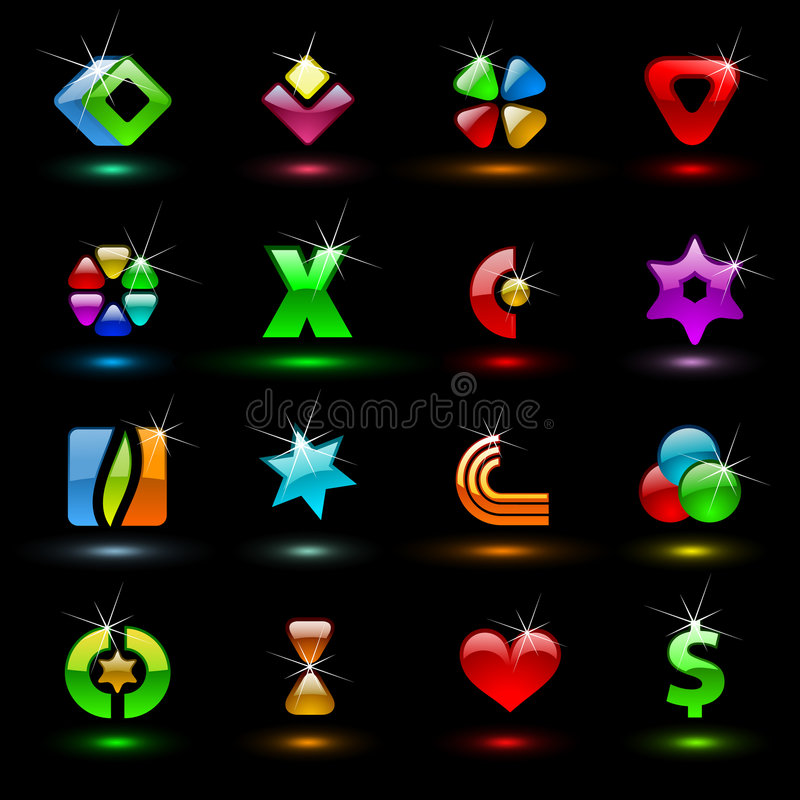Colorful editable vector signs 1 stock illustration