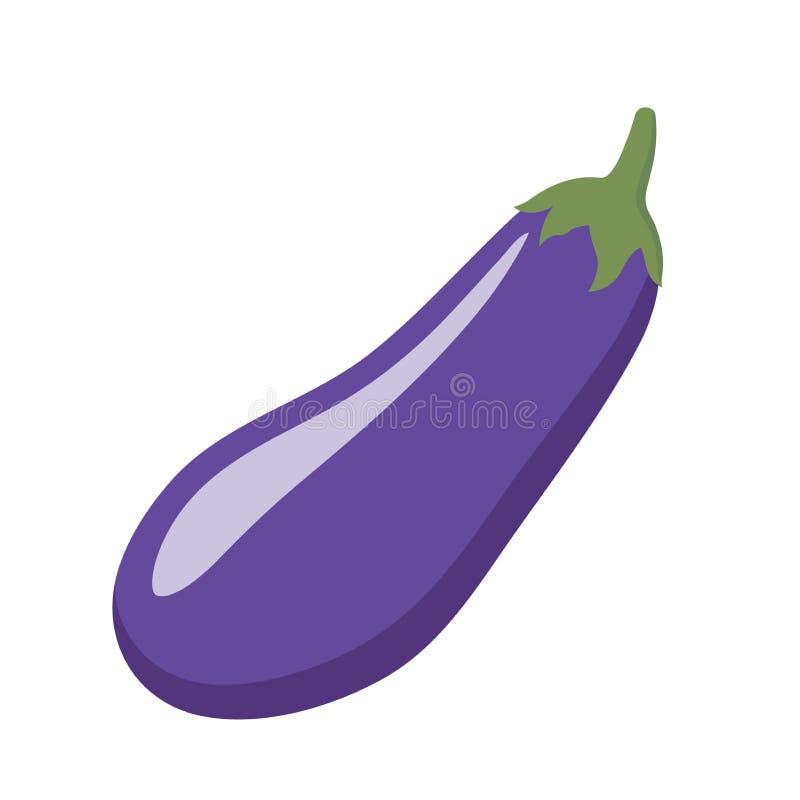 Colorful eggplant clipart cartoon. Eggplant vector illustration. Purple eggplant isolated illustration stock illustration
