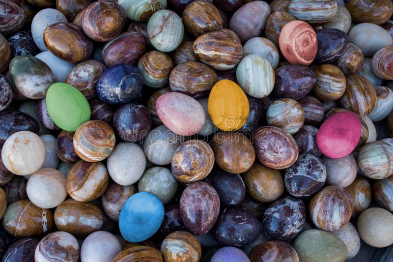 Colorful Eggs made of marble thanksgiving concept royalty free stock photos