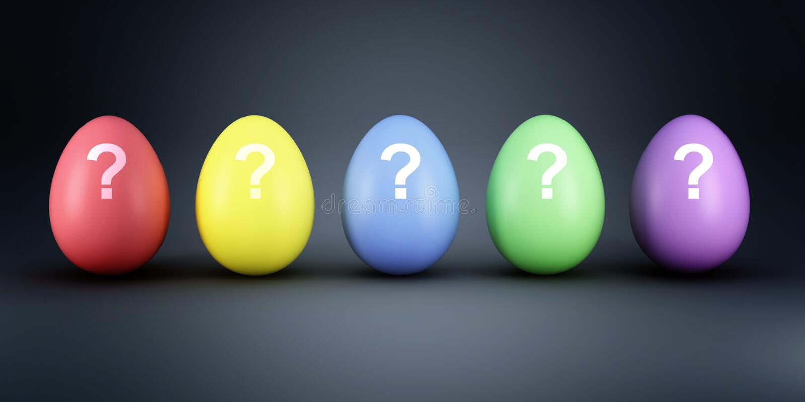 Download Colorful eggs mistery stock illustration. Image of illustration - 18478986