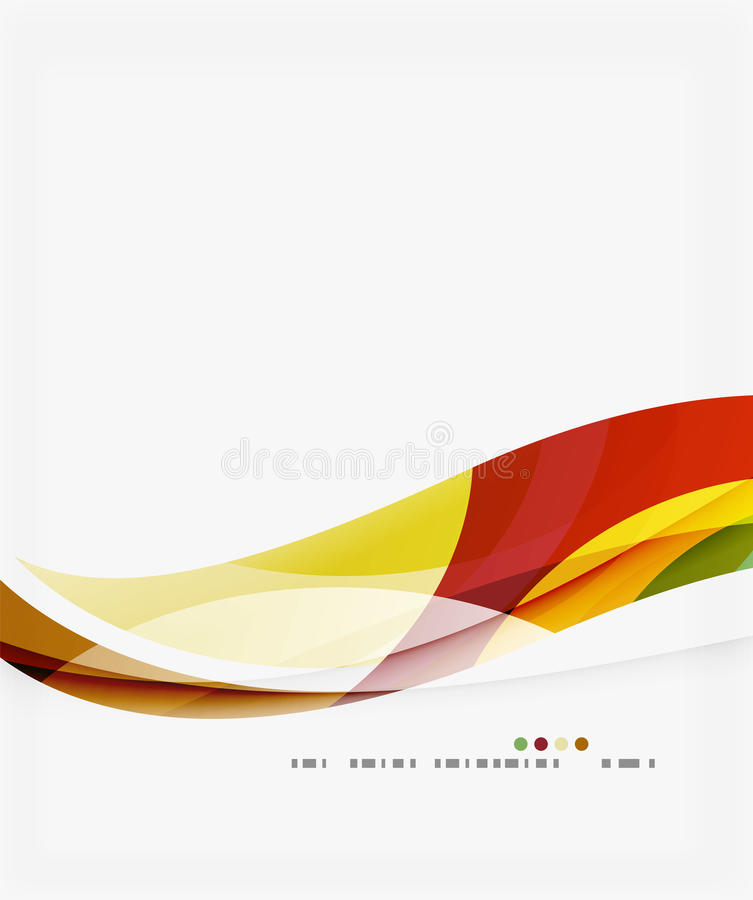 Colorful elegant wave creative layout. Vector template background for workflow layout, diagram, number options or web design royalty free illustration