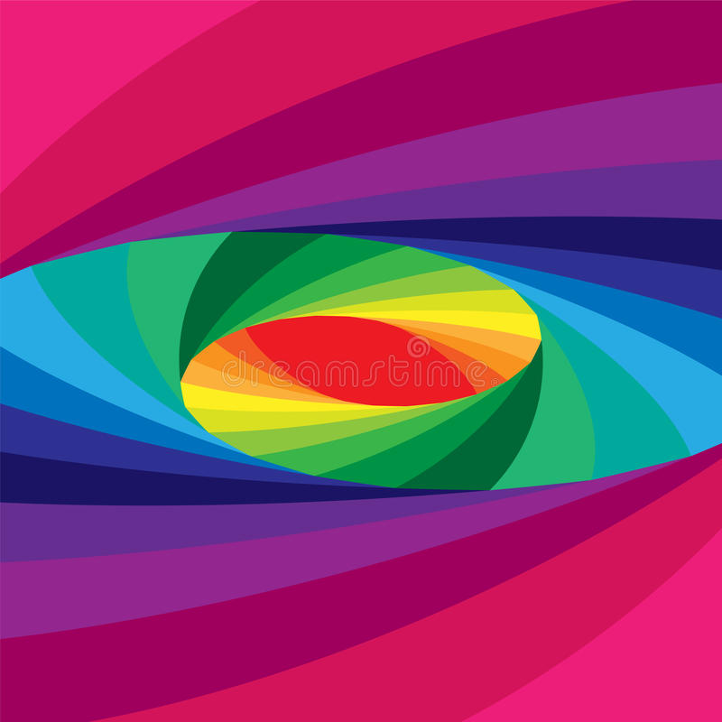 Free Colorful Elliptical Helix Shimmering From Dark To Light Tones And Expanding From The Center. Optical Illusion Of Depth And Volume Stock Photography - 79592562