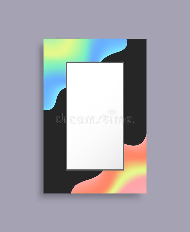 Colorful Empty Frame for Photo with Bright Blots vector illustration