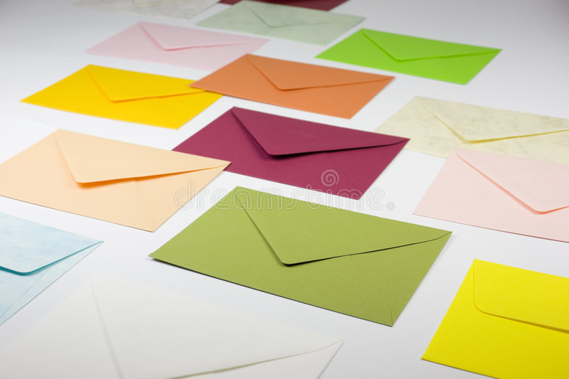 Colorful envelopes royalty free stock image