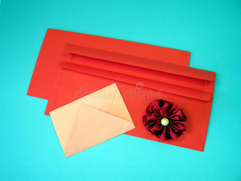 Colorful envelopes royalty free stock photos