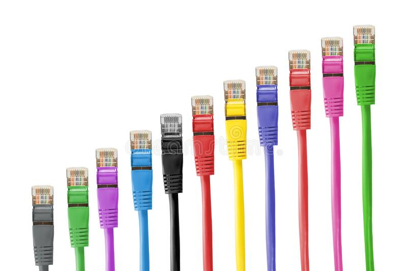 Colorful Ethernet Cable stock photography