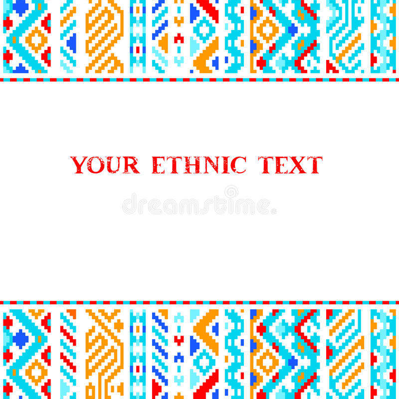 Colorful Ethnic Geometric Aztec Template, Vector Stock Vector ...