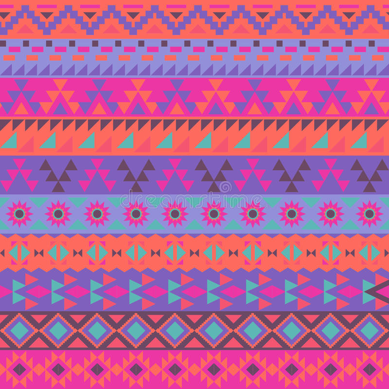 Free Colorful Ethnic Pattern Stock Photography - 56793882