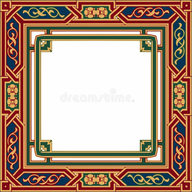 Colorful ethnic patterned background. Arabesque vector ornament stock illustration