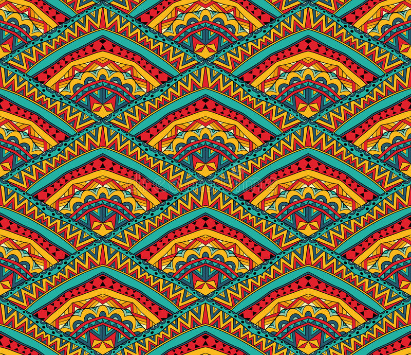 Colorful Ethnic Seamless Pattern vector illustration