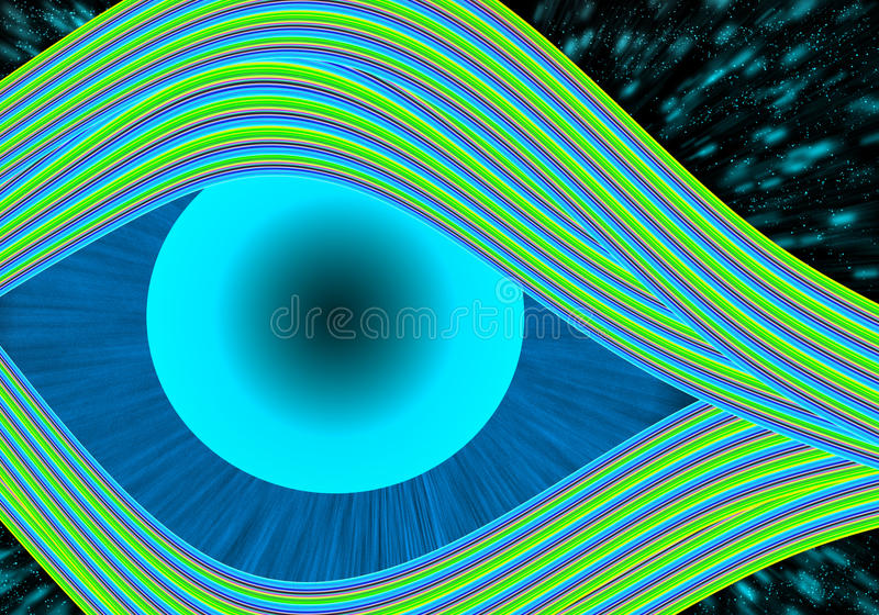Colorful eye. With abstract background royalty free illustration