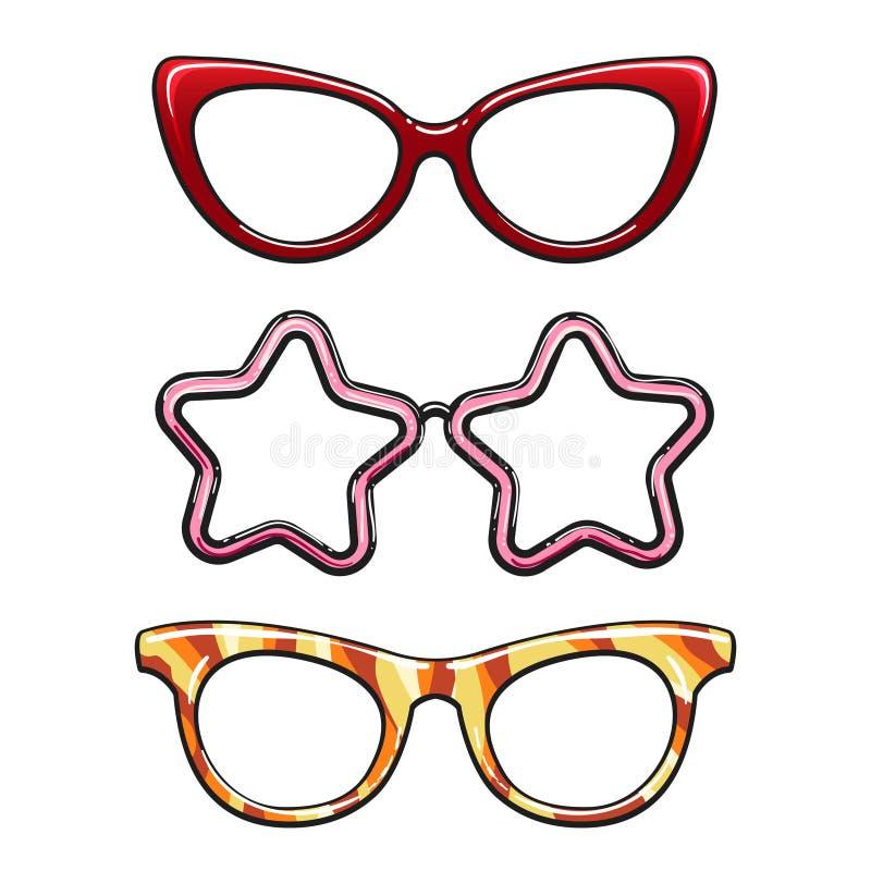 Free Colorful Eyeglass Frames Set Royalty Free Stock Photography - 93426787