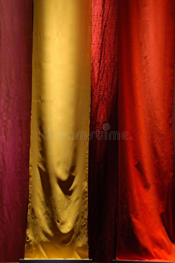 Colorful Fabric. S being hung and displayed royalty free stock photos