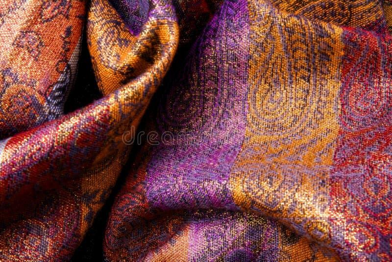 Colorful fabric background - curvy wavy veil
