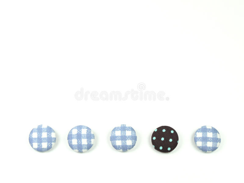 Colorful fabric buttons isolated royalty free illustration