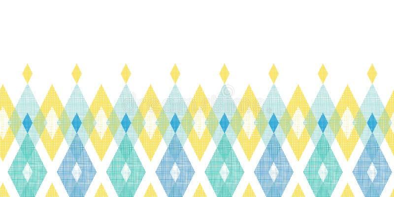 Colorful fabric ikat diamond horizontal seamless royalty free illustration