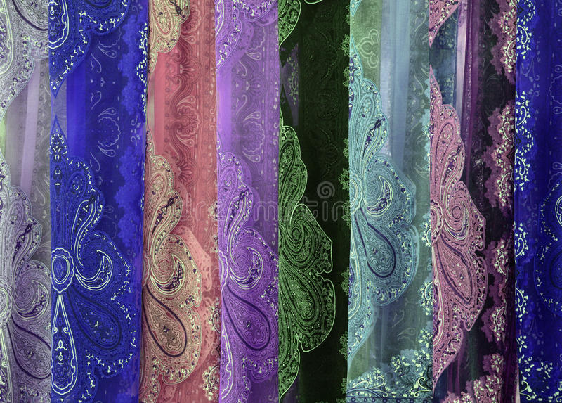 Colorful fabric pattern. stock photos