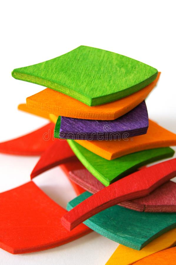 Colorful fabric pieces royalty free stock image