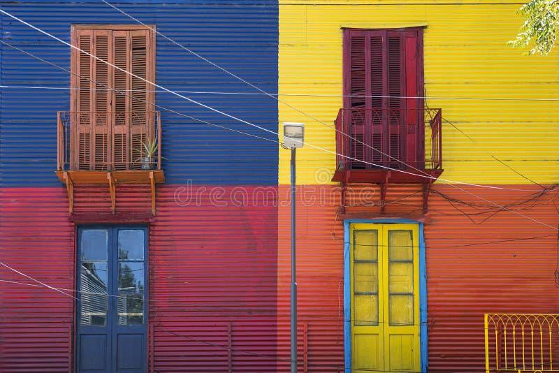 Colorful facade from Caminito in La Boca, Buenos Aires, Argentina. Detail from colorful facade from Caminito in La Boca, Buenos Aires, Argentina stock photo