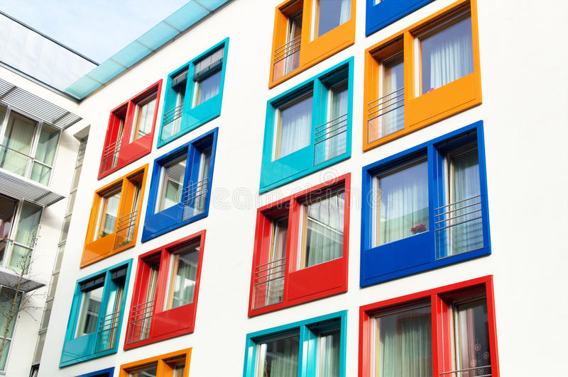 Exceptional Download Colorful Facade Of Modern Apartment Building Stock Photo   Image  Of Housing, Costs: