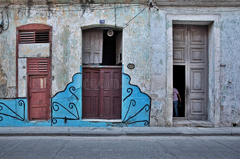 Download Colorful Facade Of The Old Havana Cuba Stock Image - Image: 21304403