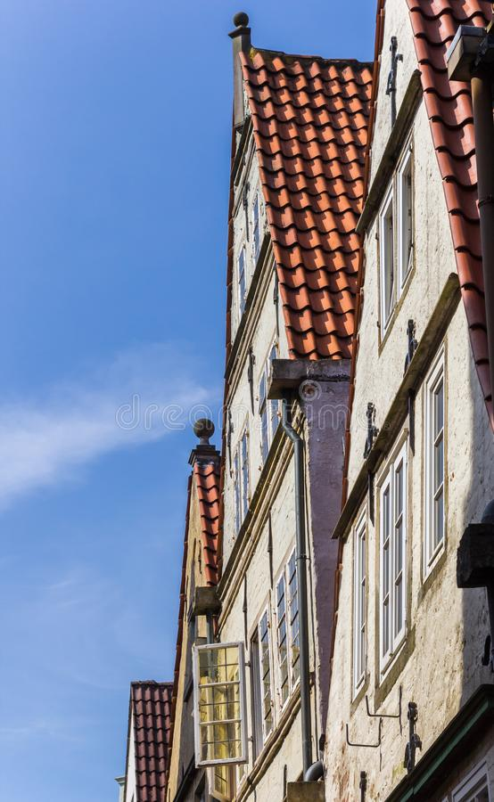Colorful facades in the Schnoor district of Bremen. Germany royalty free stock photo