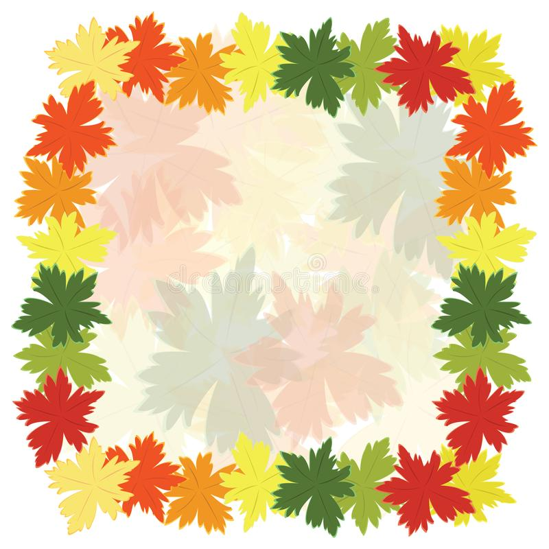 Fall leaves background. Colorful fall leaves background, autumn leaves blowing in the wind vector illustration