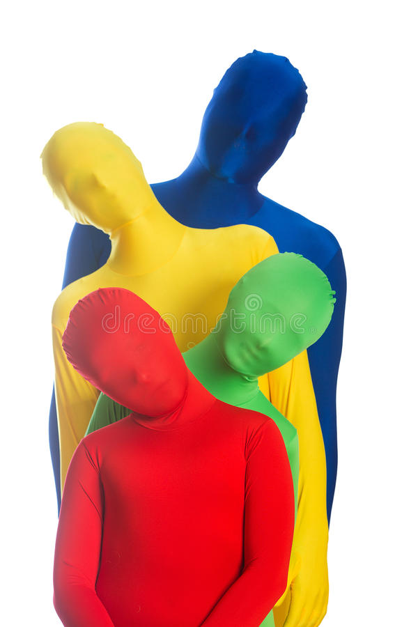 Colorful family of four stock images