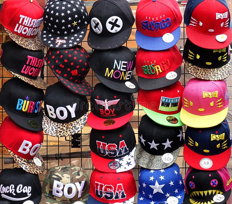 Download Colorful And Fashionable Baseball Caps Editorial Image - Image of fashion, vendor: 39512770